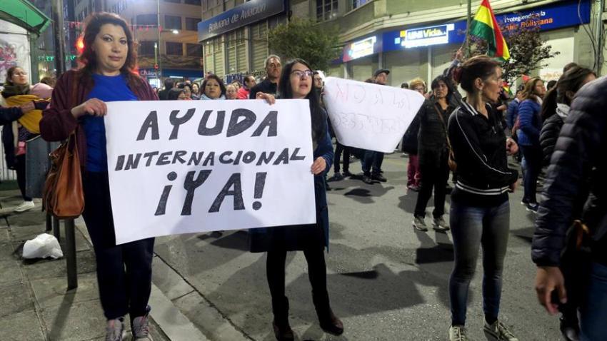 BOLIVIA-MARCHA-INCENDIOS