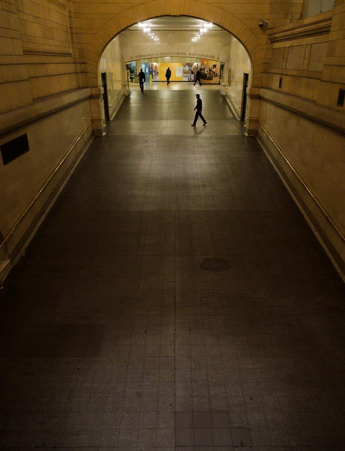Terminal de Grand Central. Foto tomada el 17 de marzo. Crédito: EFE