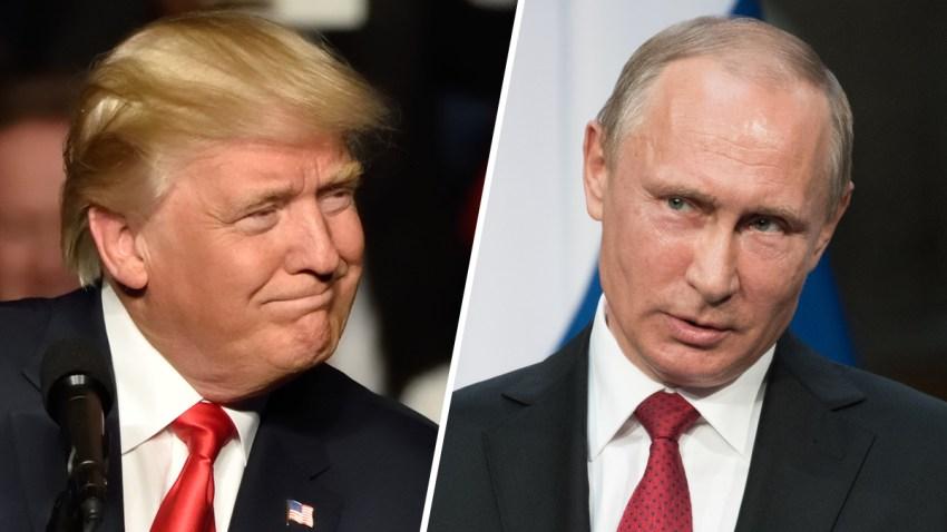 Combinación de fotografías del presidente estadounidense Donald Trump y su homólogo ruso, Vladimir Putin.