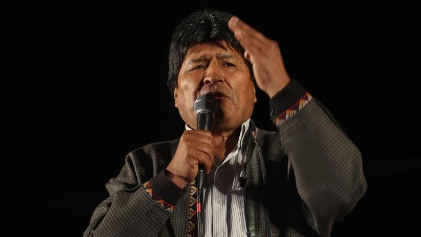 En la imagen, el expresidente de Bolivia Evo Morales. EFE/Martin Alipaz/Archivo