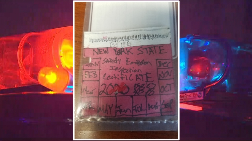Fake inspection sticker Montgomery County Sheriff Dept
