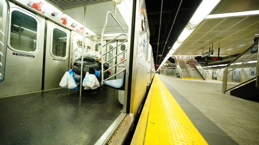 Homeless on subway during COVID-19 crisis