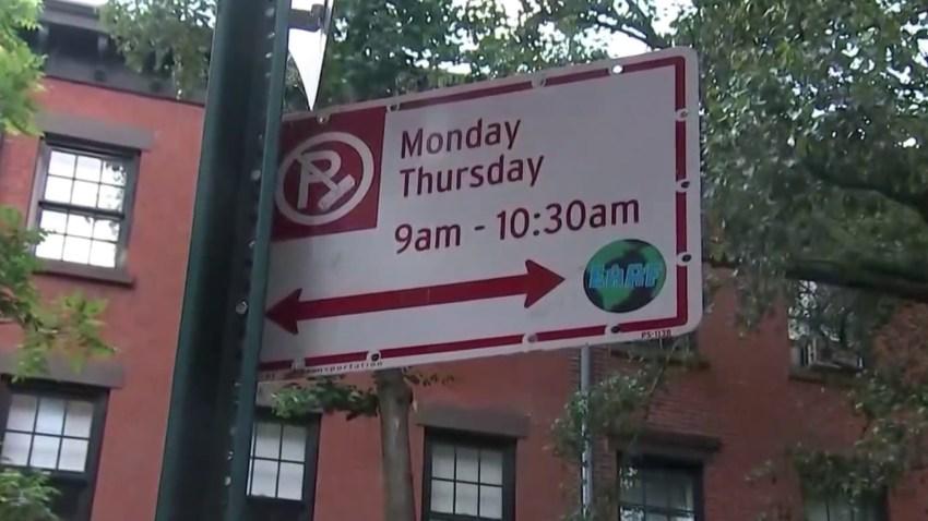 Alternate Side Parking street sign