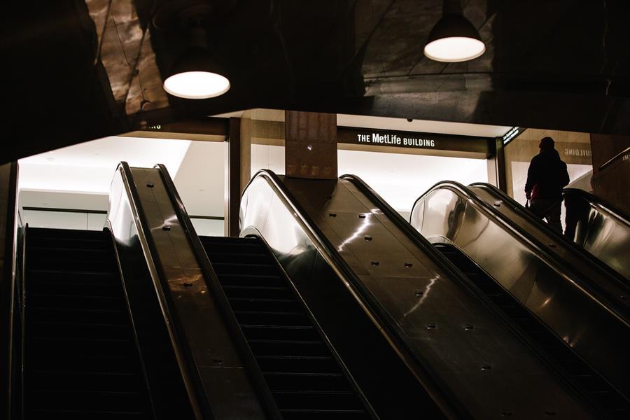 Escaleras de la estación de Grand Central. Foto tomada el 17 de marzo. Crédito 17.