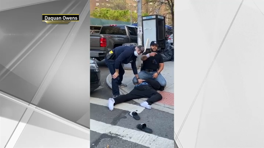 two NYPD officers arrest man