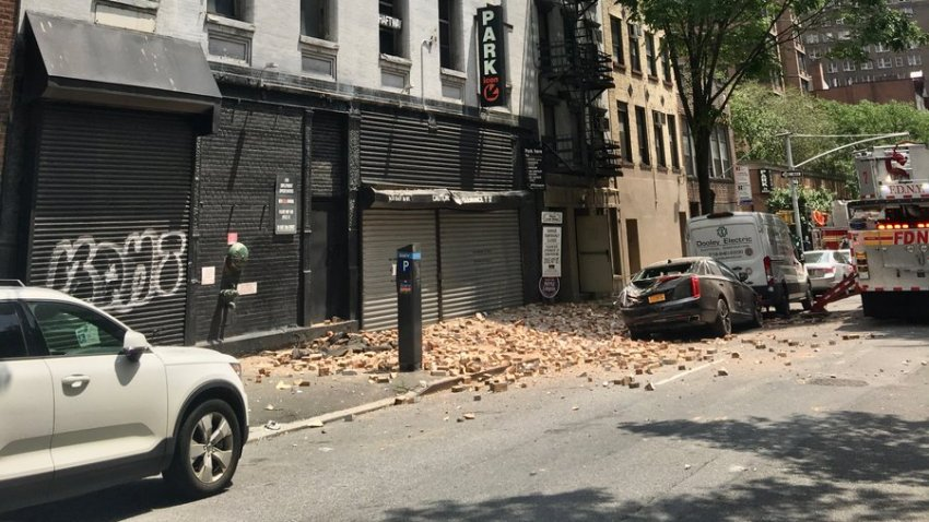 partial building collapse manhattan