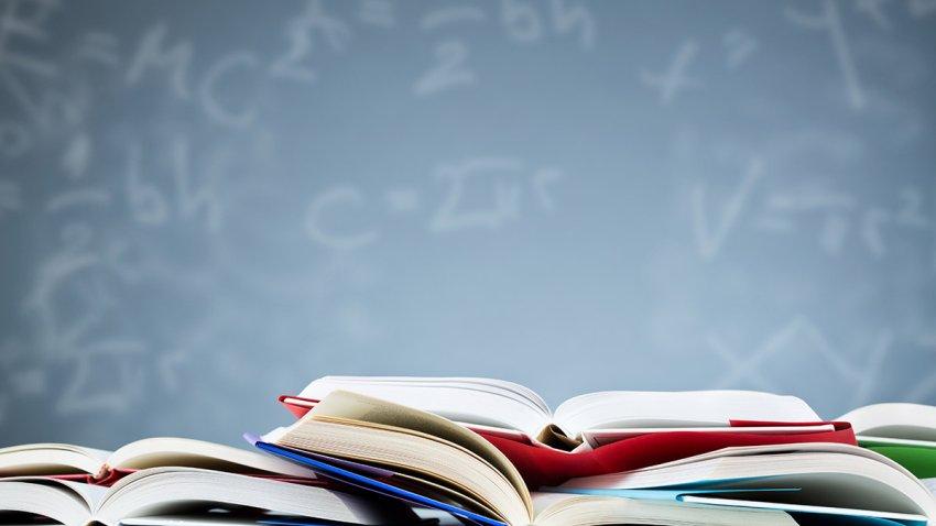 stock image of school books