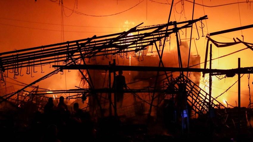 Incendio mercado mexico