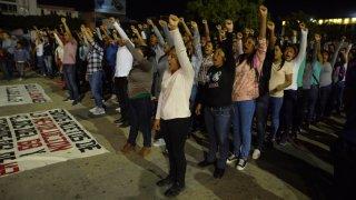 Protesta en Chiapas por desaparición de estudiantes de Ayotzinapa
