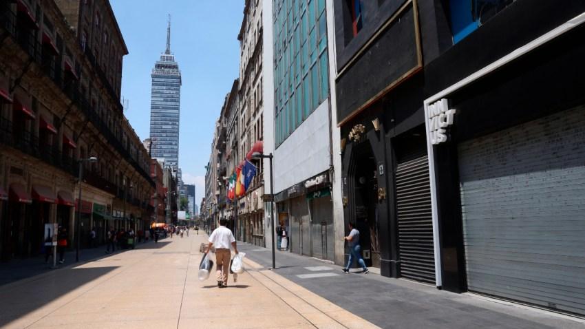 Calles desiertas en Ciudad de México
