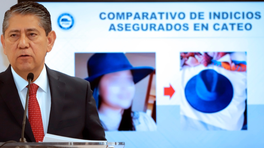Sombrero de la estudiante colombiana asesinada