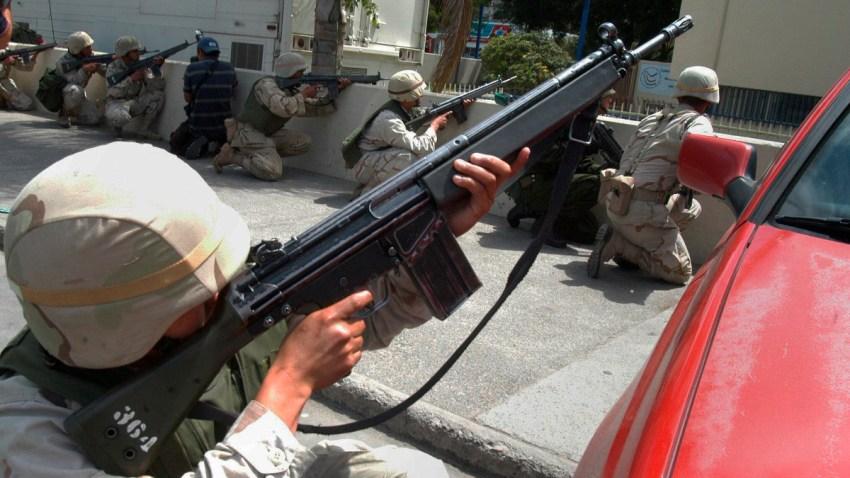 Militares en un operativo en Tijuana