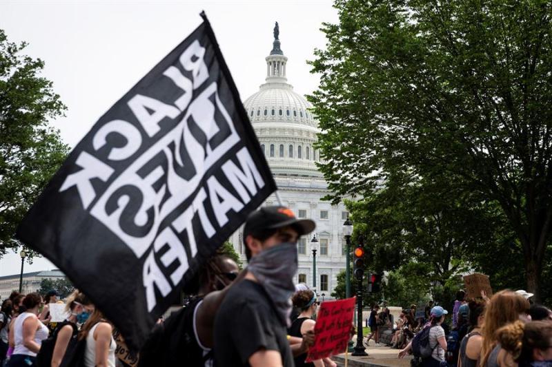 Fotos: Novena jornada de protestas en DC tras muerte de George Floyd