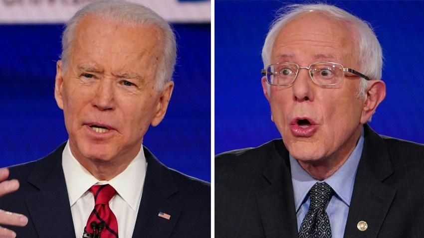 Biden y Sanders