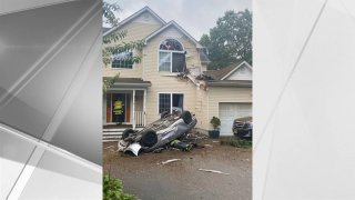 Car into Second Floor of Long Island Home