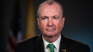 Phil Murphy, Governor of New Jersey, listens during a Bloomberg Television interview in Newark, New Jersey