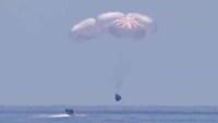 Misión histórica: astronautas a bordo cápsula privada de SpaceX regresan a la Tierra
