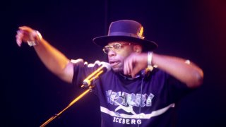 Jam Master Jay of Run-DMC performs on stage