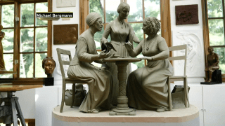 statue of Elizabeth Cady Stanton, Susan B. Anthony, and Sojourner Truth