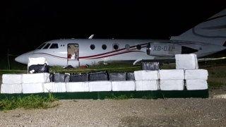 Avión con droga en México