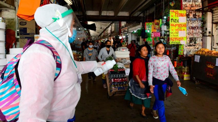 Prevención de contagios en mercados mexicanos