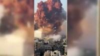 Impactante video: el momento de la enorme explosión en el Líbano