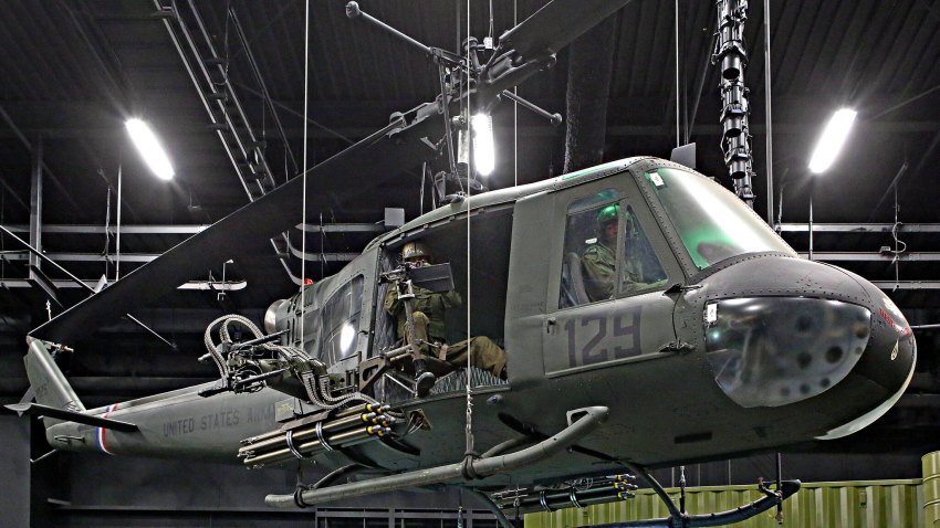 """A """"Huey"""" helicopter of the Vietnam War"""