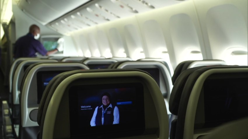 """On Thursday, NBCDFW got an inside look at the procedure AA uses to disinfect and """"turn around"""" every one of their thousands of daily flights. Since the start of the pandemic, the process has grown in intensity and sophistication."""