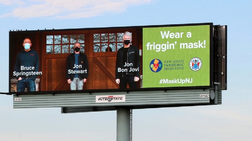 New Jersey mask billboard
