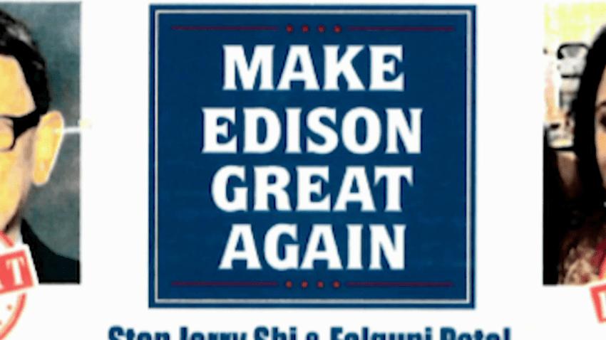 Flyer targeting two Edison school board candidates