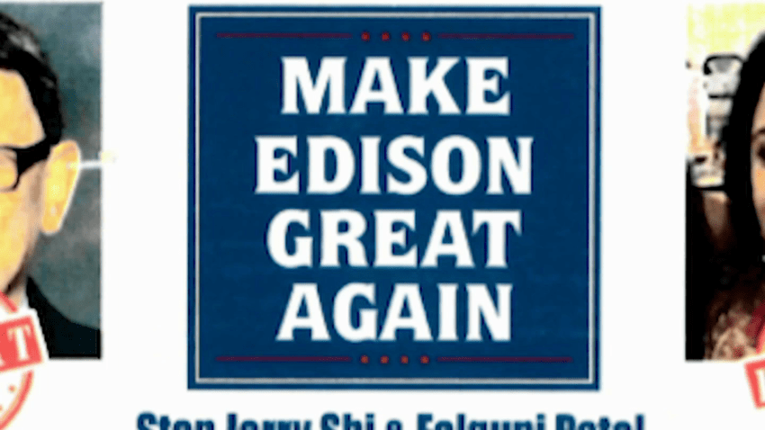 Flyer targeting two Edison school board candidates