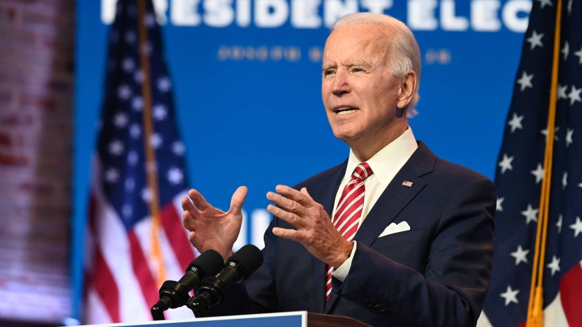 """US President-elect Joe Biden speaks during a press conference at The Queen in Wilmington, Delaware on November 16, 2020. - US President-elect Joe Biden expressed frustration on November 16, 2020 about Donald Trump's refusal so far to cooperate on the White House transition process, saying """"more people may die"""" without immediate coordination on fighting the coronavirus pandemic."""