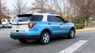 A Prince William County Police SUV