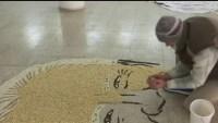 La razón por la que un artista  creó retrato de Joe Biden hecho con cereales