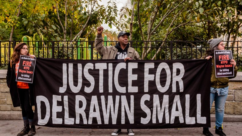 Protesters call for charges against cop who killed Delrawn Small