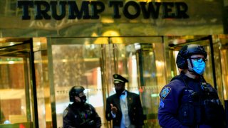 Security outside Trump Tower in Manhattan