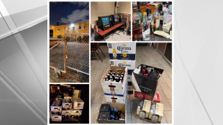 Police in Newark confiscated 403 bottles of beer, wine and liquor, as well as $6,829 in proceeds from gambling machines at the Portuguese Soccer Club