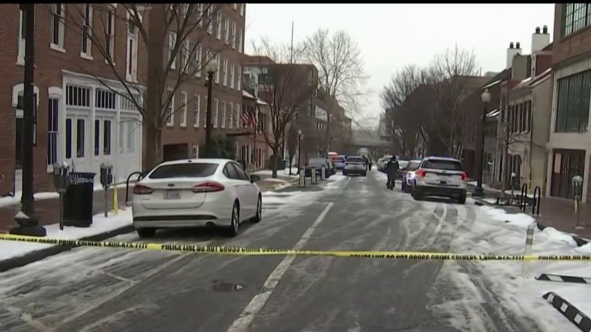 Police at the scene of a shooting in Georgetown