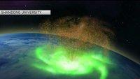 """Por primera vez observan un """"huracán espacial"""""""