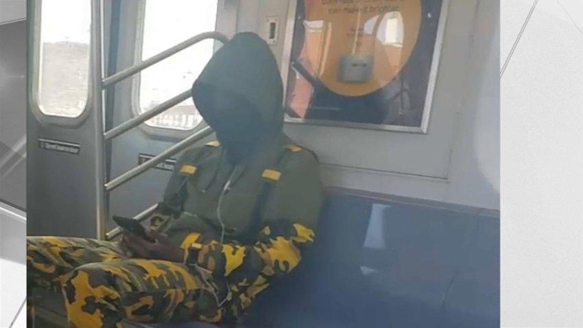 Hate crime suspect on subway