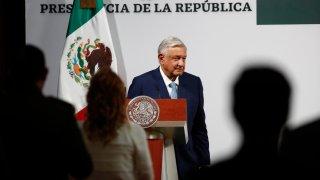 El presidente de México ofrece un mensaje