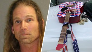 "Robert Burck, known as the ""Naked Cowboy,"" was arrested in Daytona Beach, Florida, on charges of panhandling and resisting arrest on March 6, 2021."