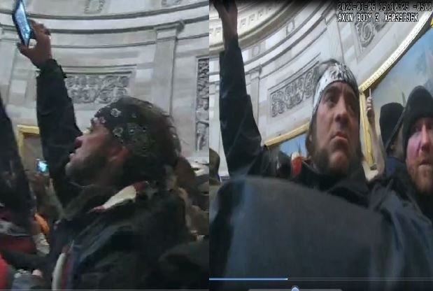 Man seen on pictures storming U.S. Capitol