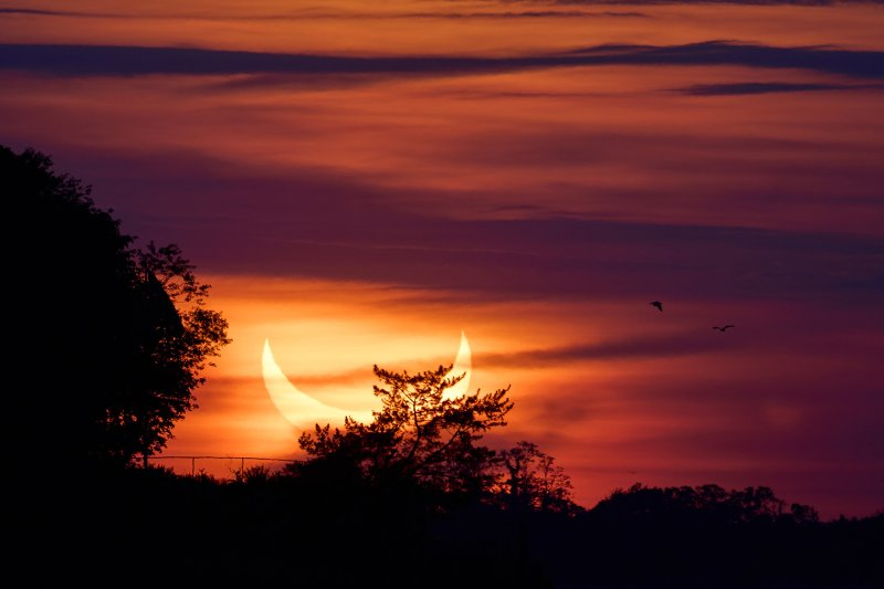 EN FOTOS: Eclipse solar desata pasiones con su candente esplendor