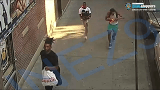 Three people running down a sidewalk in surveillance video are wanted by police in connection to a shooting in the Bronx.