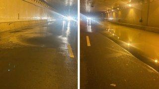 third street tunnel sinkhole water