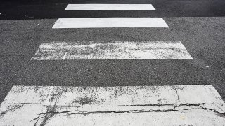 Crosswalk on the road