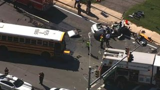 new hampshire avenue crash school bus