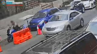 A silver Chrysler Sebring sedan motorist shot a 16-year-old driving a moped, police say