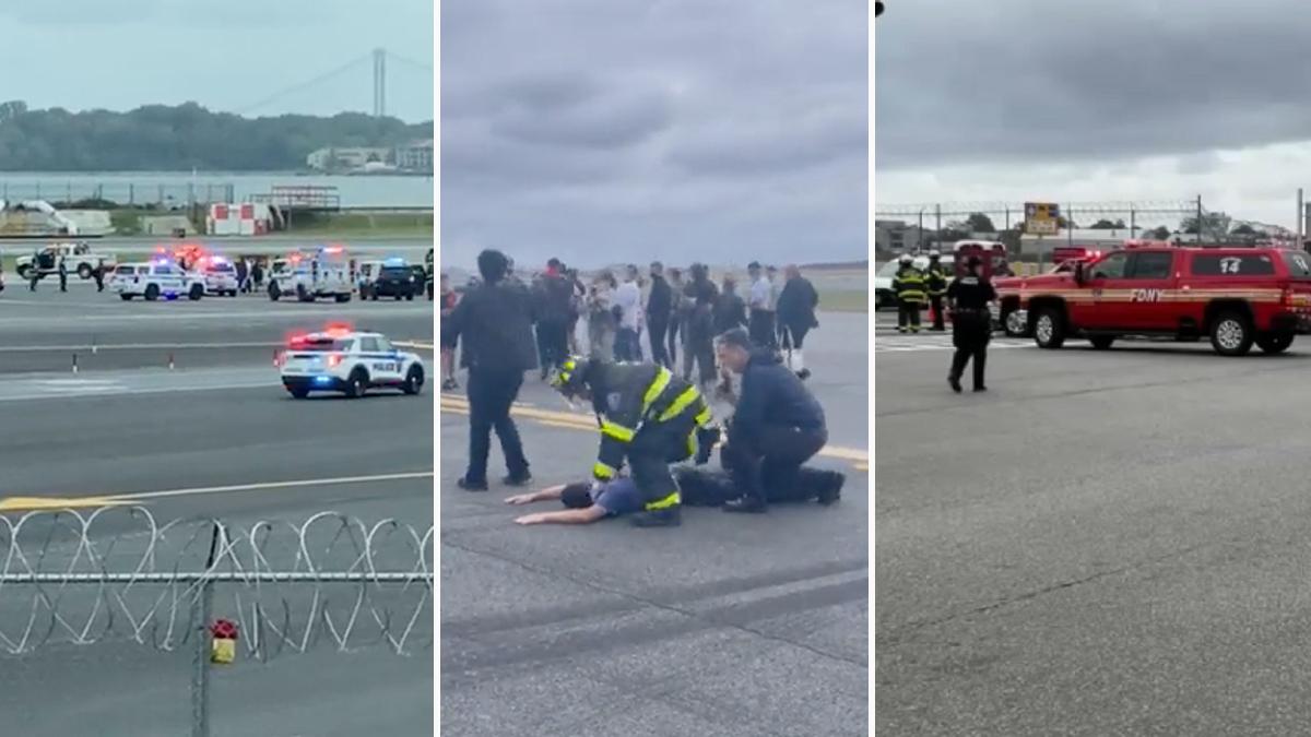 """Liberan al pasajero detenido en relación a un aterrizaje de emergencia en LaGuardia por un """"incidente de seguridad"""""""